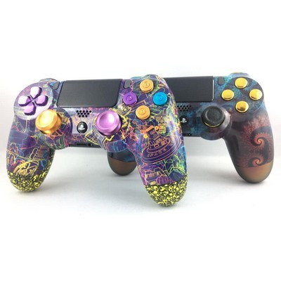 Manette PS4 Pro V2- Space Robot & Aqua Spirale