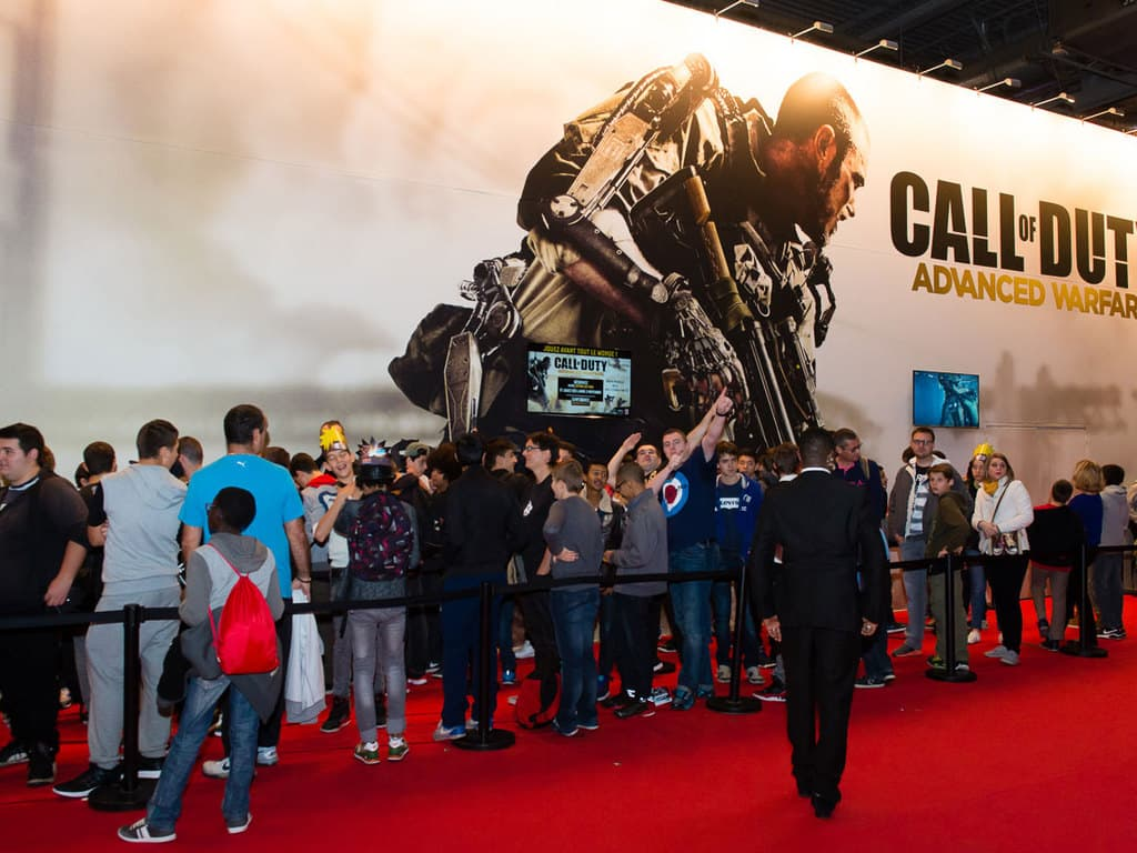 PGW - 2014 - Call of Duty Advanced warfare - Activision - File d'attente