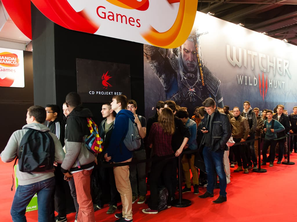PGW - Mercredi 29 Octobre 2014 - Public et fil d'attente The Witcher 3 : Wild Hunt
